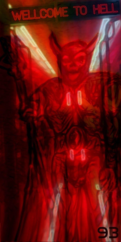 HELL DEMON LORD - ORIGINAL SKET - novaexpress93 | ello