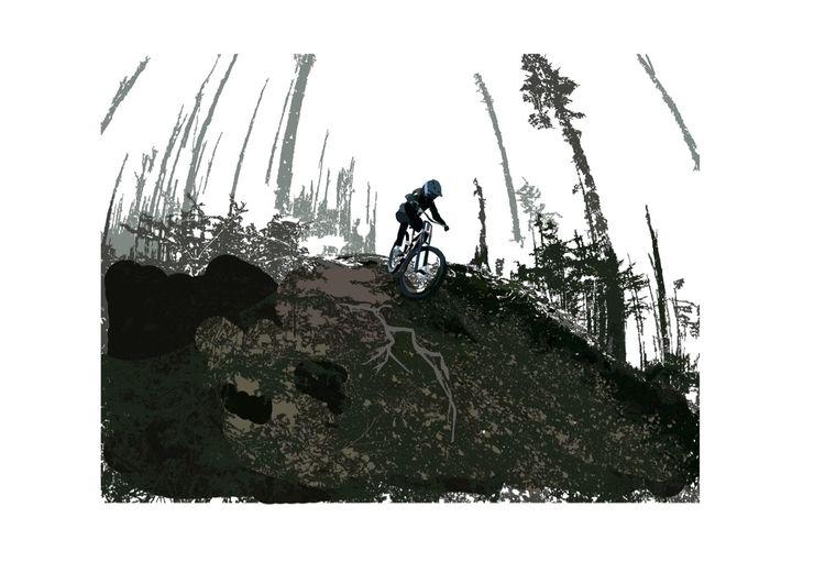 Downhill - illustration - sophieillustration   ello