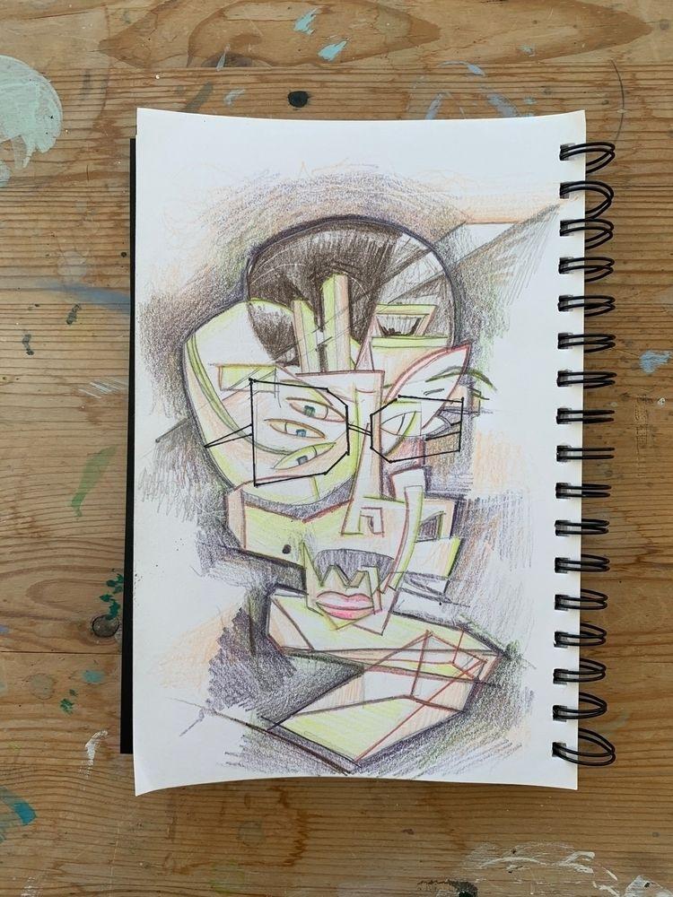 alienreception, sketch, drawing - joeyderuy | ello