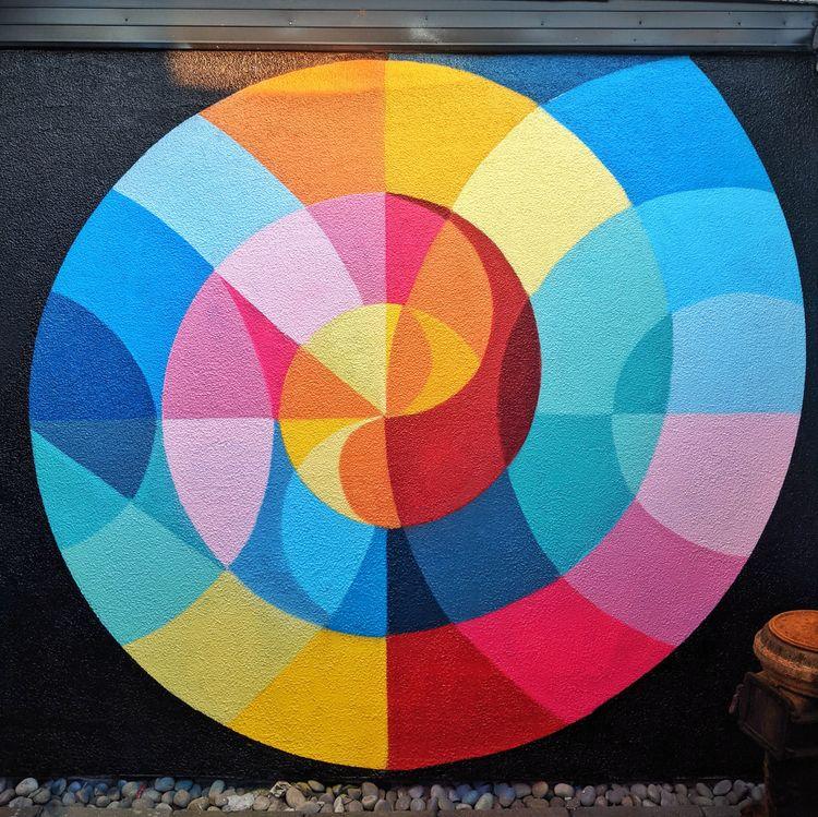 Mural painted explored spiral - mural - shaneomalleyart | ello