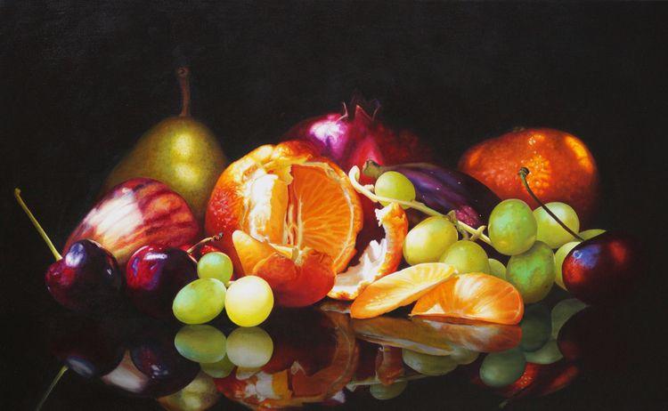'Emerging Fruit' Oil Linen 71 1 - zanettiart | ello