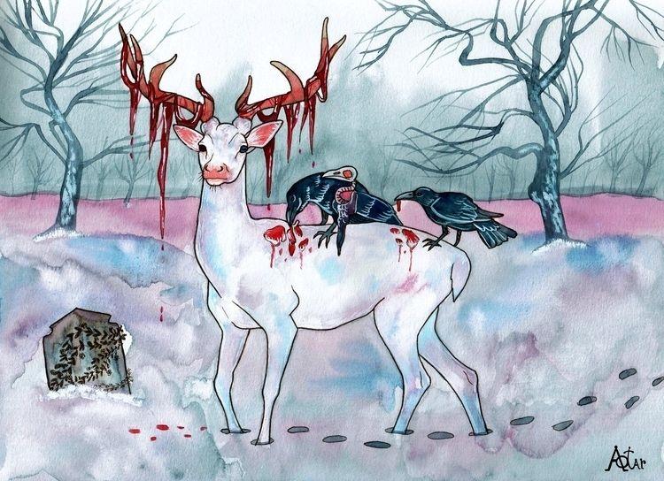 Small lonely grave 2021 - animals - aotar-le-quaint | ello