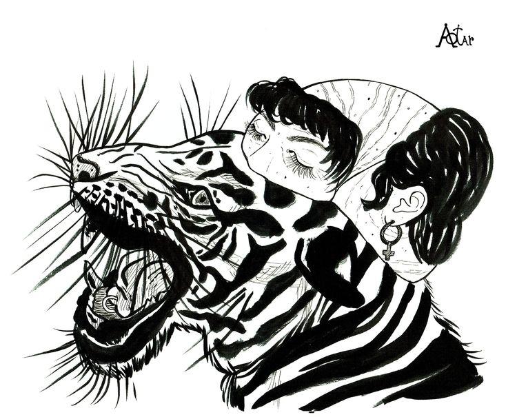 2021 - tiger, surrealism, popsurrealism - aotar-le-quaint | ello