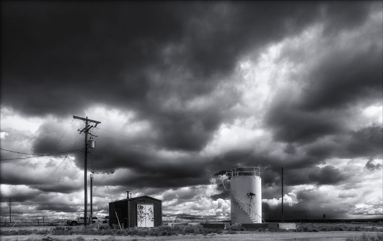 storm Table Rock, Wyoming  - monochrome - docdenny | ello
