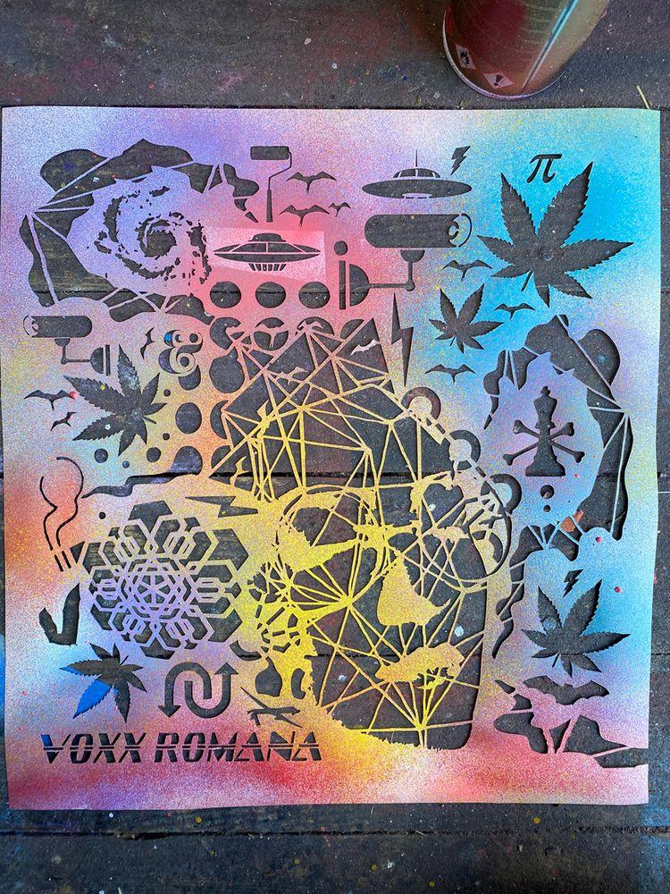 stencil show PDX display month  - voxxromana | ello
