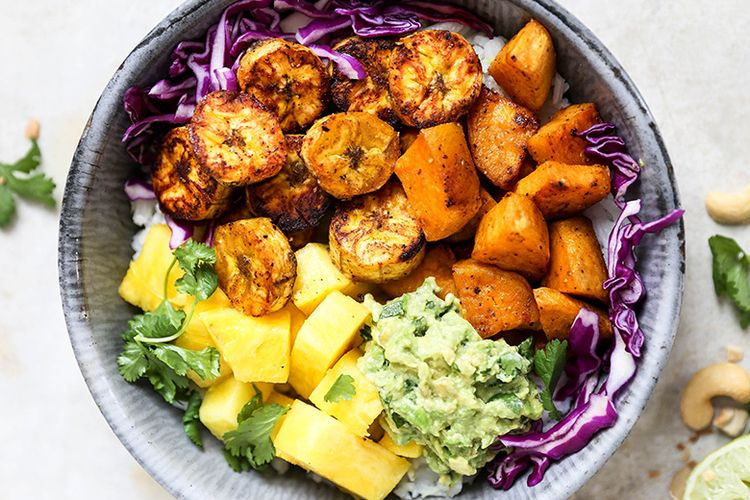 Roasted Plantain Sweet Potato R - floatingkitchen | ello