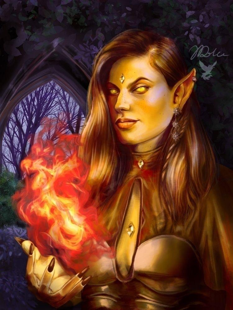Eladrin Elf Warlock. elves chan - joanadolceillustration | ello