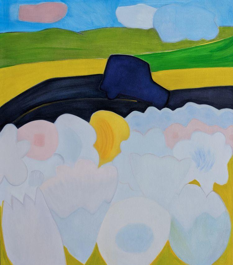 Road Trip oil/canvas, 64x56 - markbarry | ello
