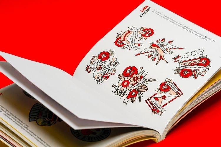 illustrations published sticker - redhalftone | ello