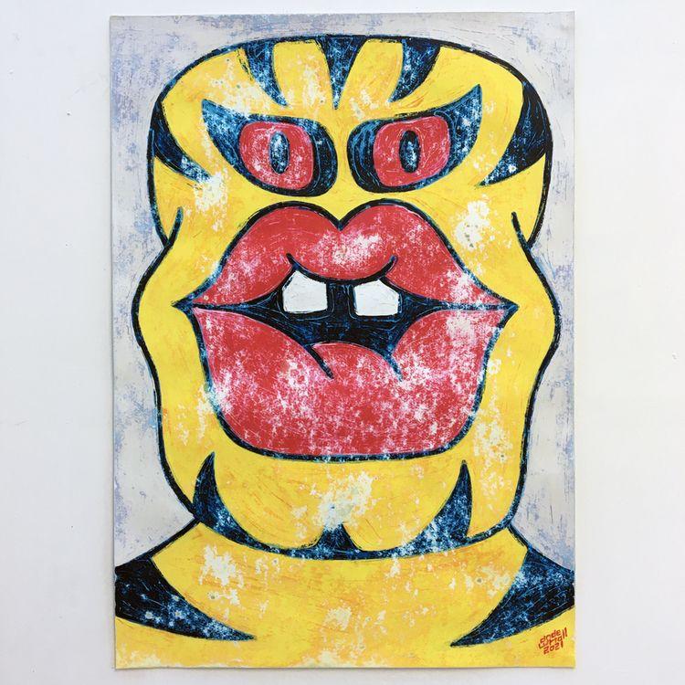 acrylicpainting, painting, framedpainting - andewhallart | ello