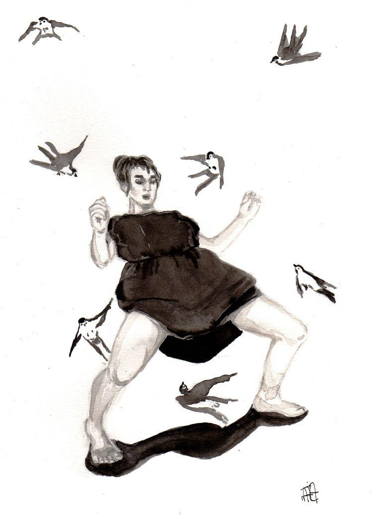 illustration, blackandwhite, elloart - nataliadamiao | ello