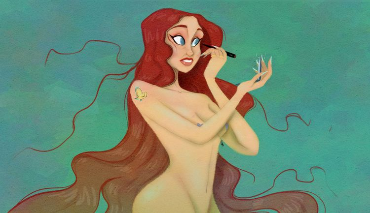Ariel makeup - art, color, characterdesign - md-art | ello