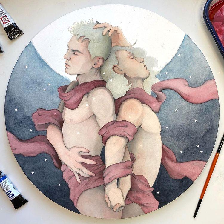 commission pieces :) Fireflies - davidcamisa   ello