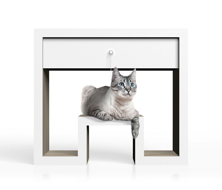 Cradle cat bed toy organizer. J - jamesowendesign | ello