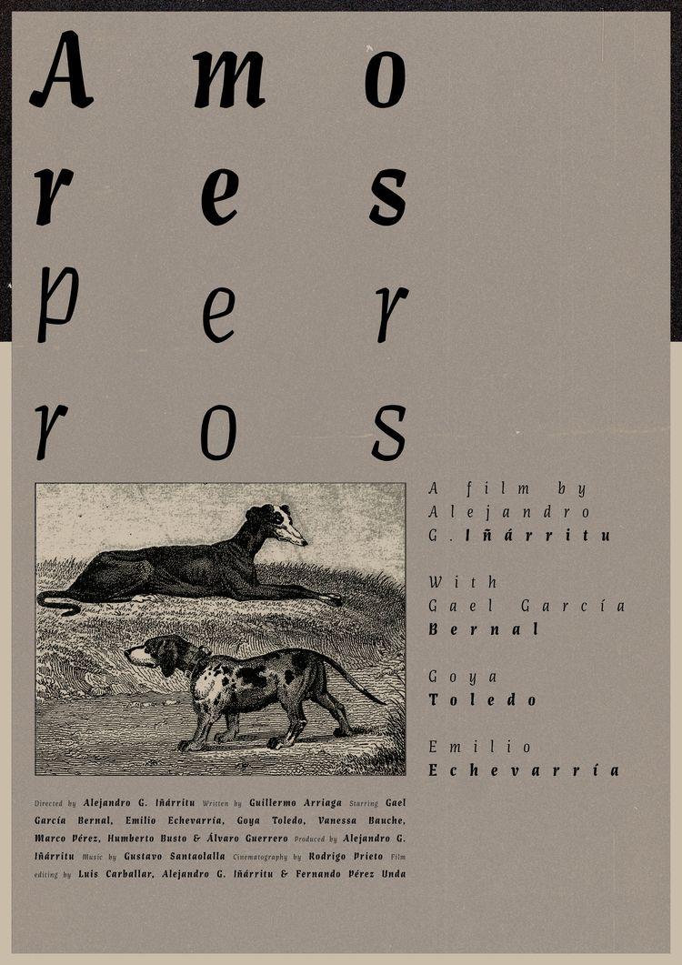 Film poster Amores Perros (Mexi - sarahschrauwen | ello