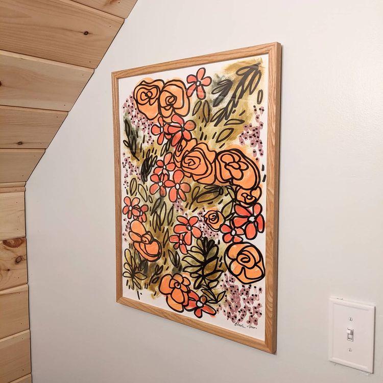 floral painting. 2021 - collaboration - wearebrainstorm   ello