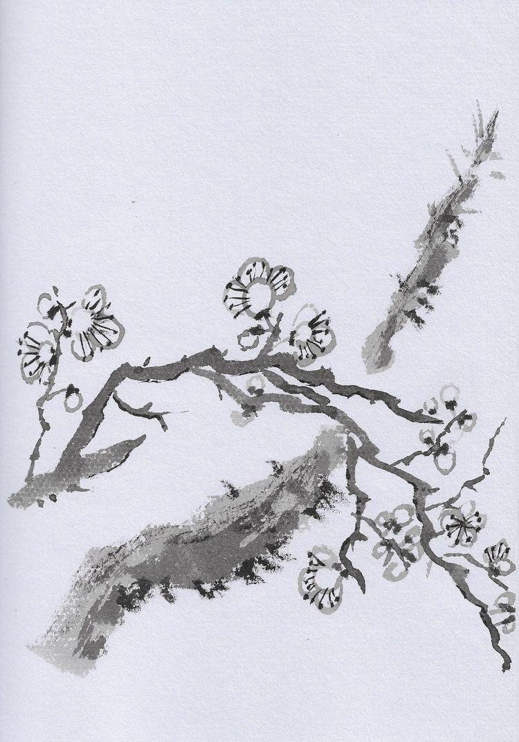 blooming plum tree - yukisan | ello