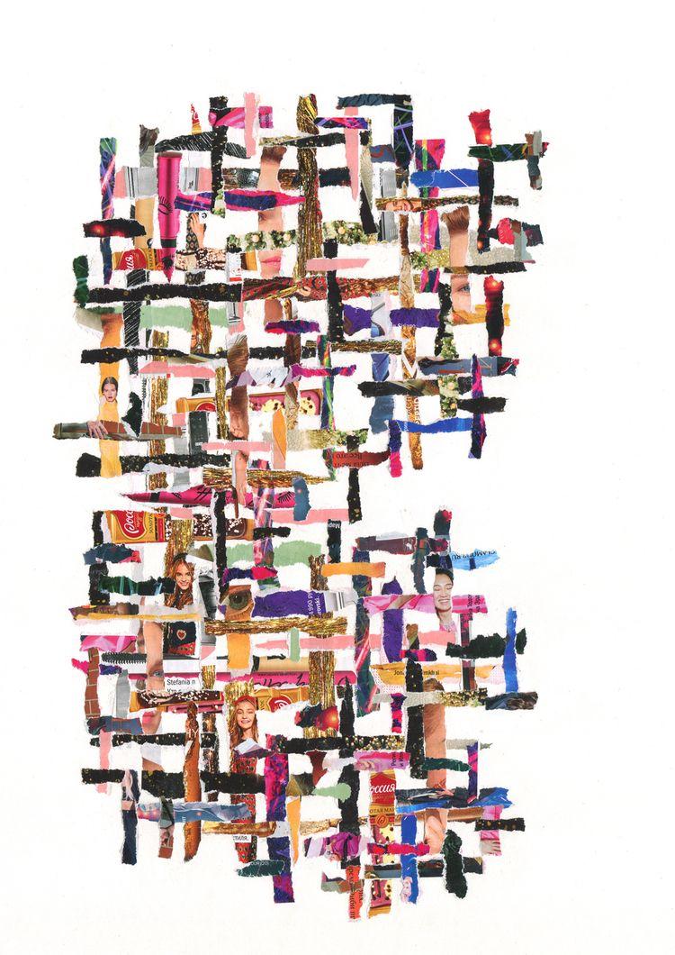 Untitled, paper, collage, 29,7× - annakiartist | ello