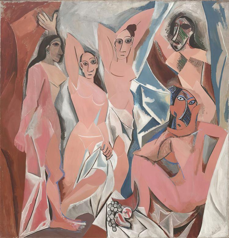Pablo Picasso, Les Demoiselles  - geeksusie   ello