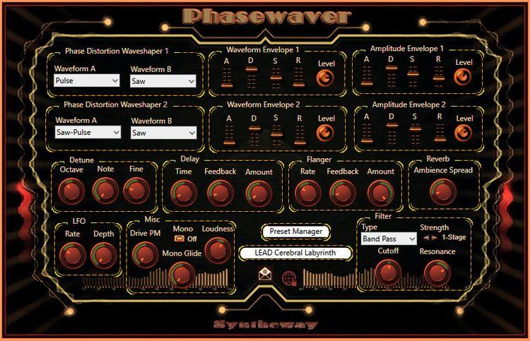 Phasewaver VST VST3 Audio Unit  - syntheway   ello