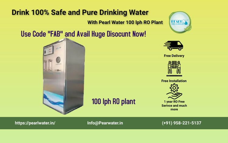 Learn benefits Pearl 100 LPH RO - pearlwater | ello