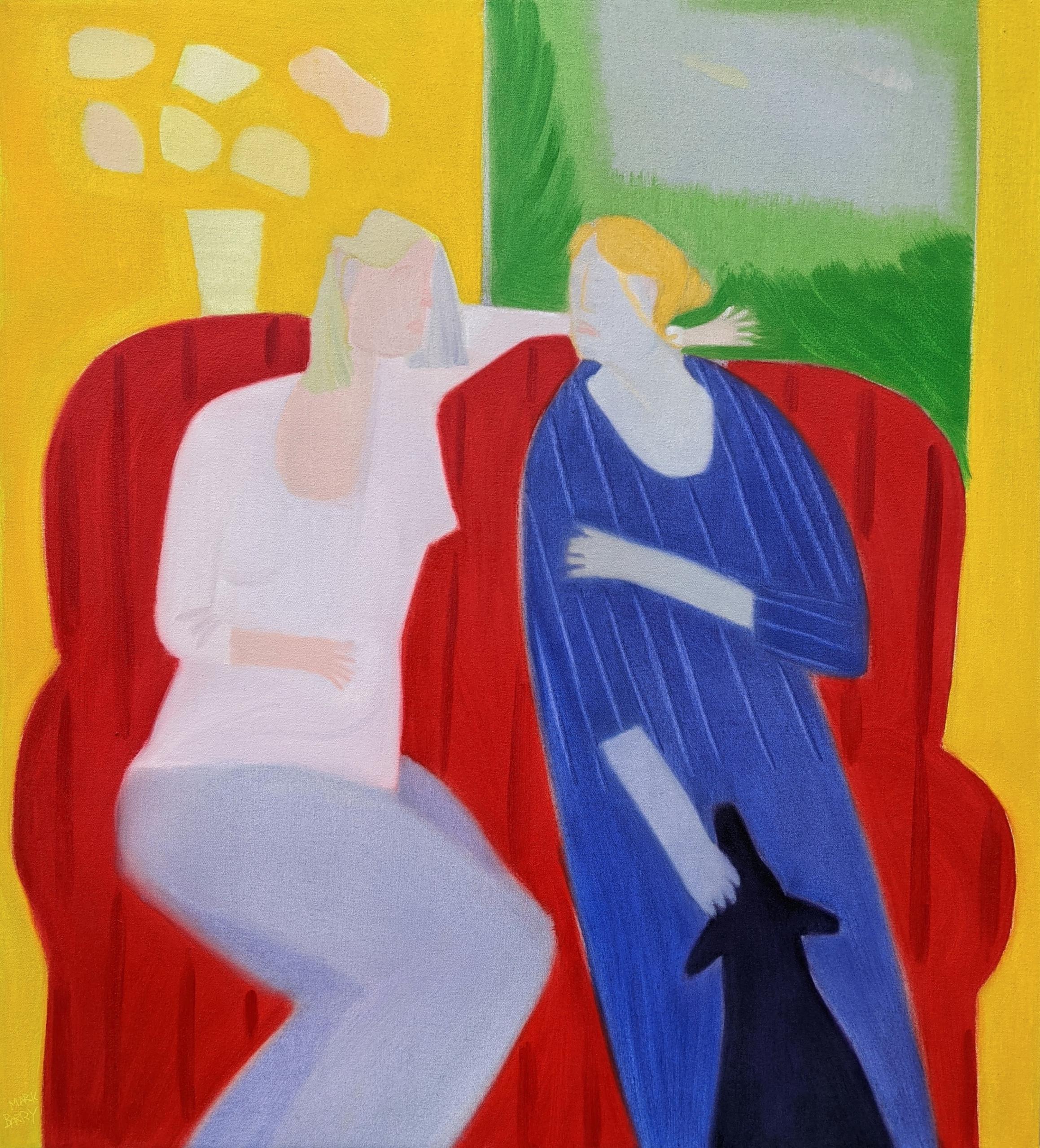 Talk oil/canvas, 40x36 - markbarry | ello