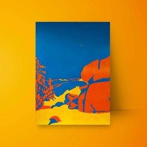 Risograph blue acrylic. Glacier - ivalera | ello