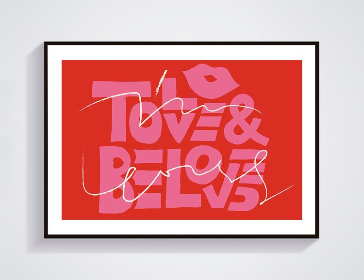 """ Love Loved "" Art Prints. 21 2 - inblank_gallery | ello"