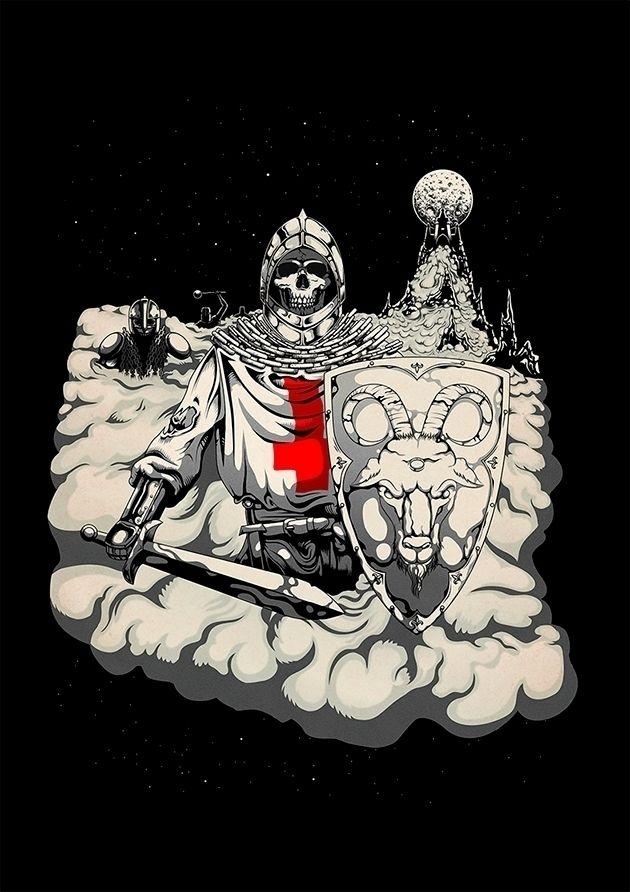Undead crusaders. art prints st - juliusllopis | ello