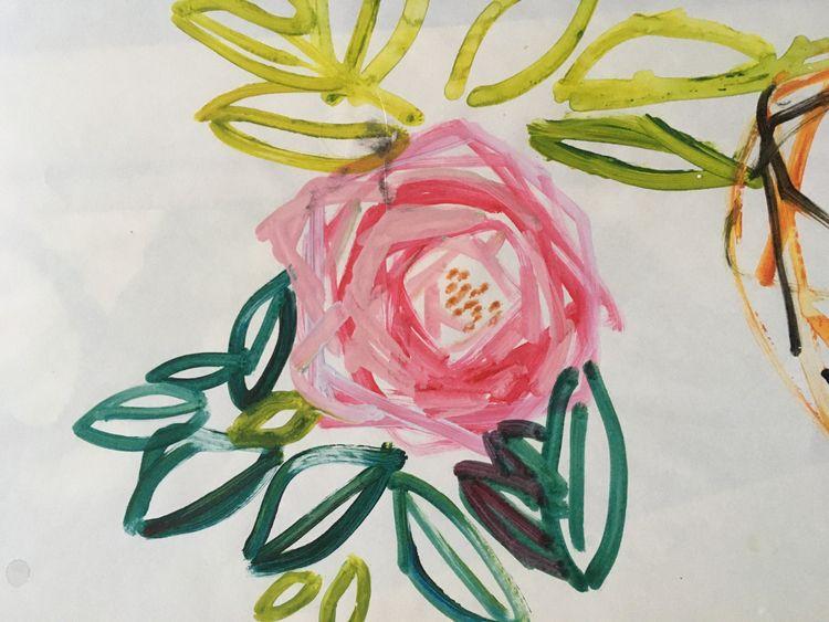 rose Acryl paper . cm - drawing - miccaman   ello