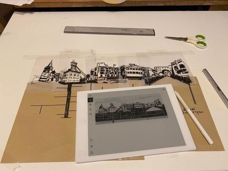 Designing Lino-cut - petermoors   ello