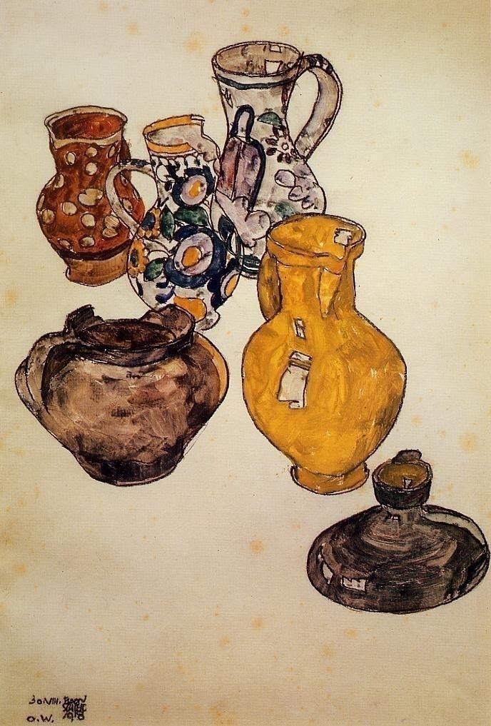 Egon Schiele: Ceramics, 1918 - arthurboehm | ello