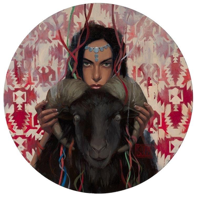 CIRCLE Oil canvas 60 cm 2018 wo - simonaruscheva | ello