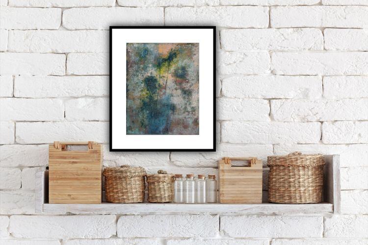 Original abstract floral art •  - martinsrobyn | ello