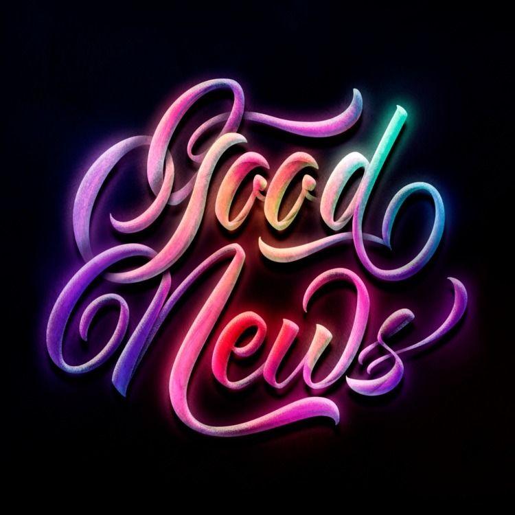 Good News - Lettering, calligraphy - tavshh   ello