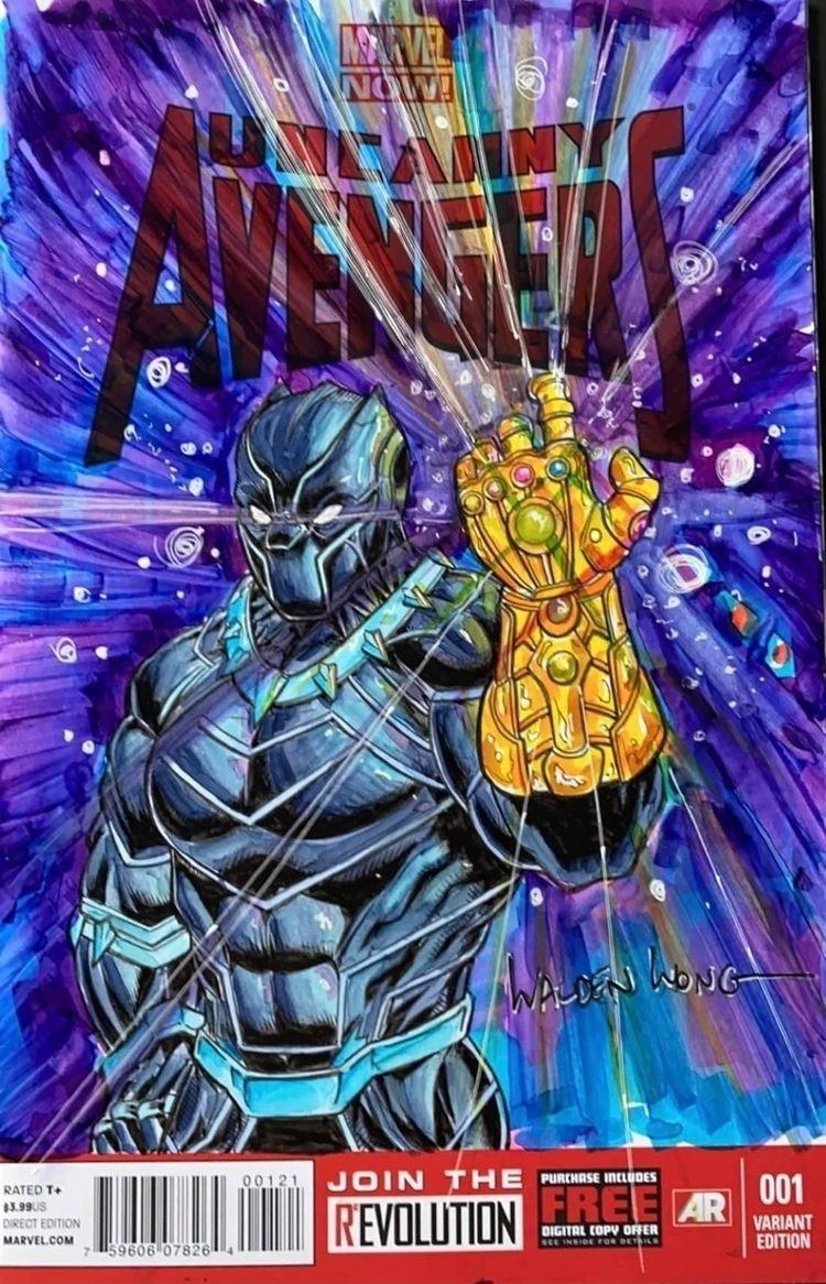 Black Panther Infinity Gauntlet - waldenwongart   ello