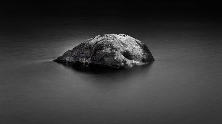Floating Rock - blackandwhite - andrewnoiles   ello