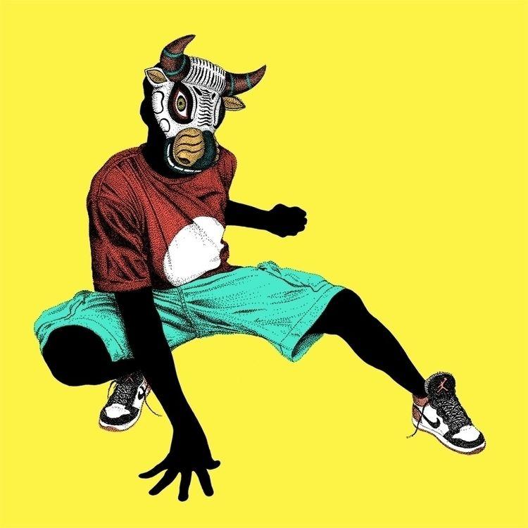 bull, illustration, pointillism - herre84 | ello