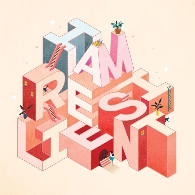 Resilient - Card Sticker Design - leahdesign   ello