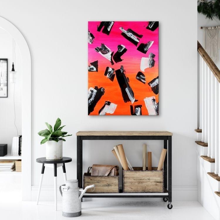 60x80cm acrylic colors canvas - serpi | ello