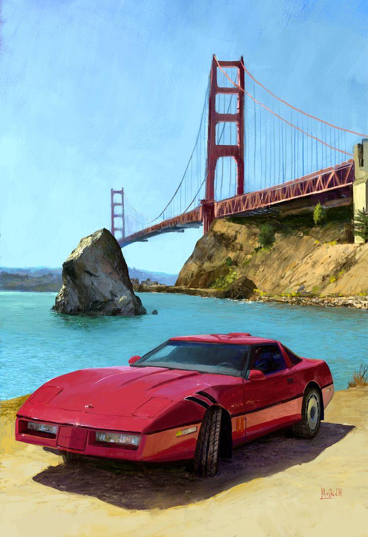 Red Corvette Photo study - mujkicharis   ello
