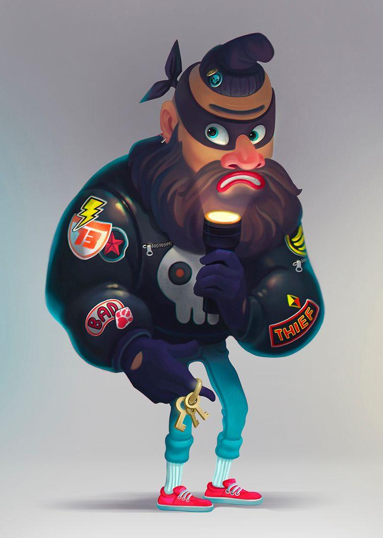 Thief - illustration, characters - shustinakatya | ello