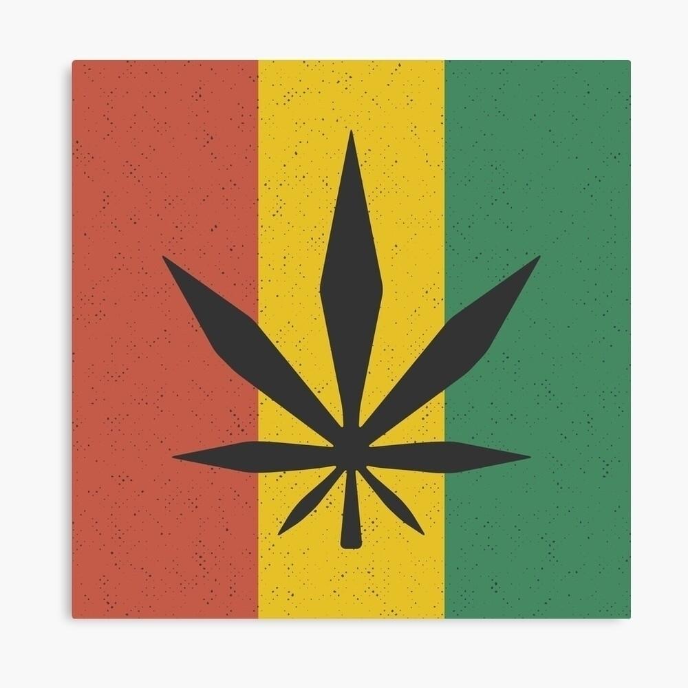 Cartoon Cannabis leaf (Rasta fl - johnuttley | ello