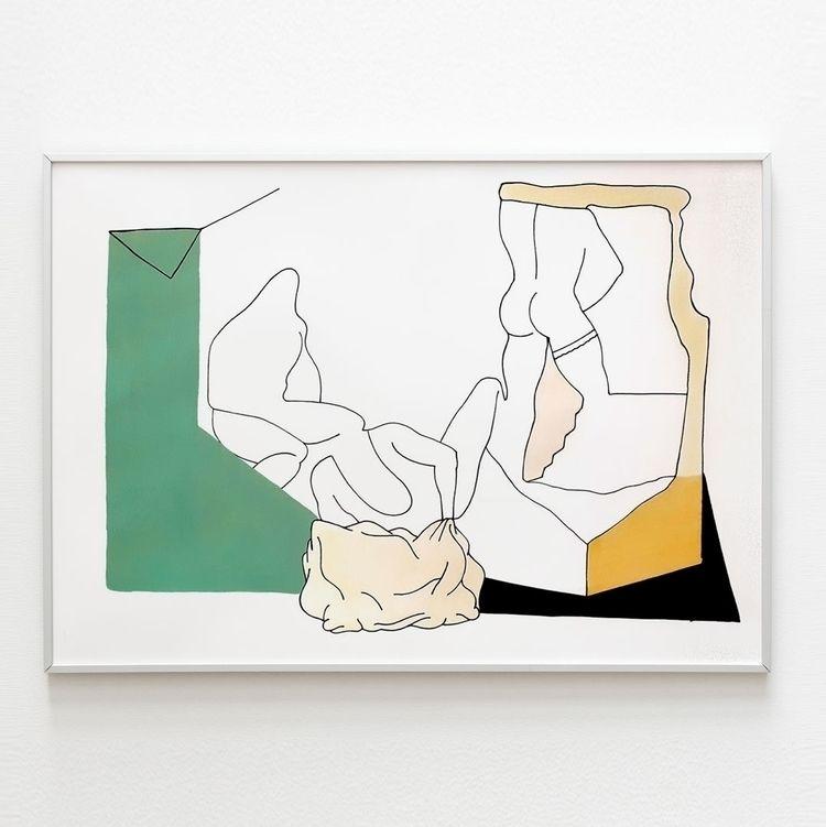 PAPER ᴡʜᴇɴ ɪ ᴡᴀꜱ 35x50 cm acryl - moonmambo   ello