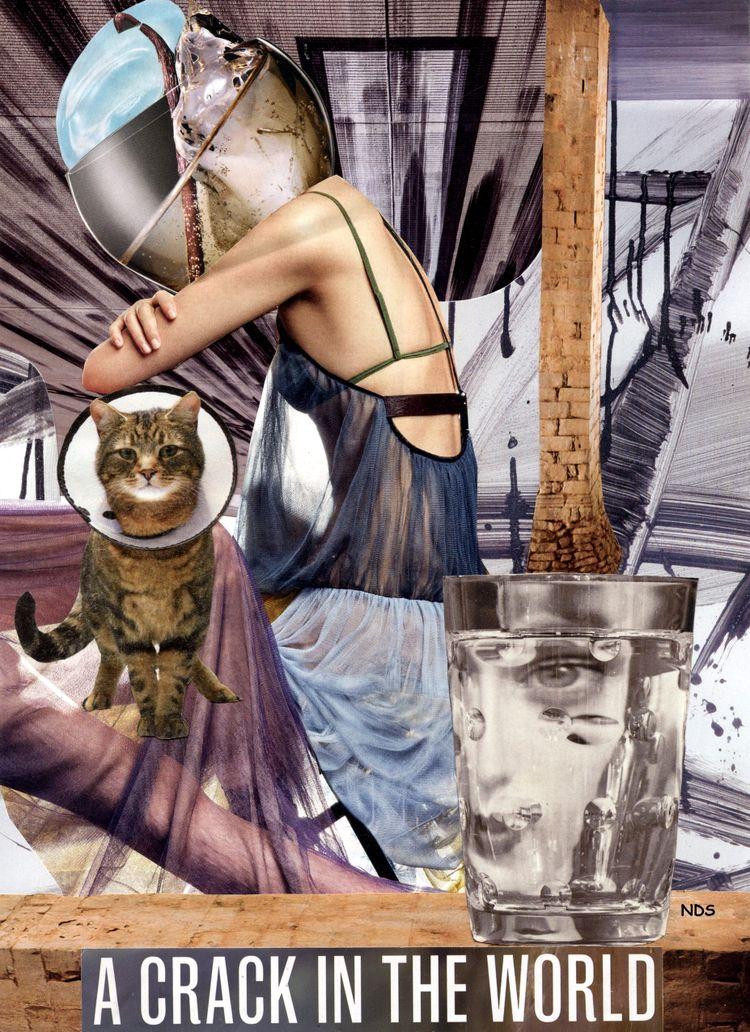 Crack World Hand-Cut Collage 20 - strangeworld | ello