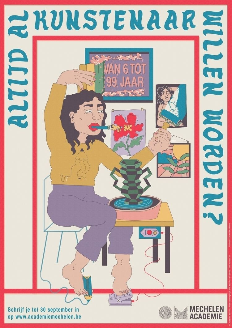 WANTED ARTIST? - Poster Academi - katrienvanbreedam | ello