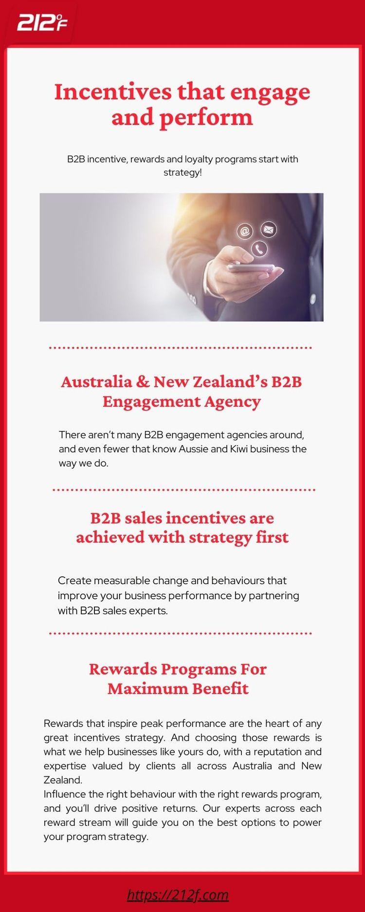 Incentives engage perform. B2B  - 212f | ello