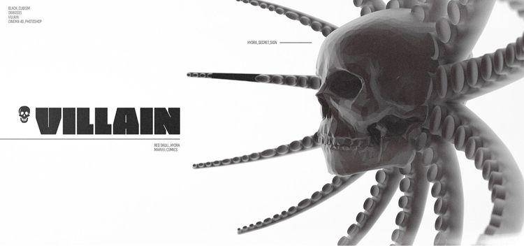 [vill.ain - cinema4d, render, everydays - black_cubism | ello