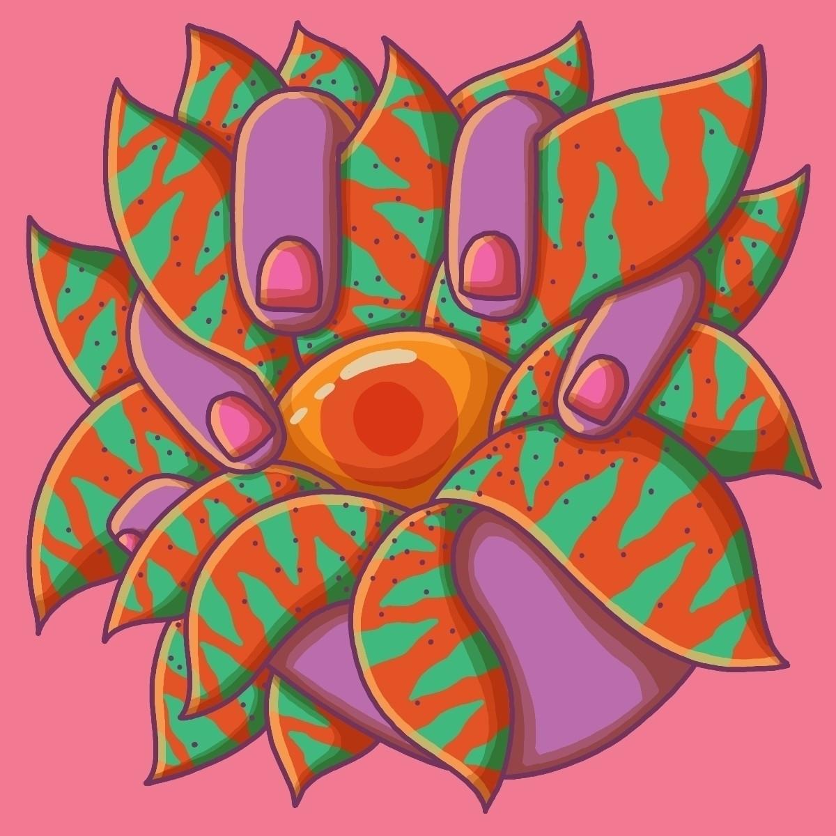 flower - illo, illustration, hand - davidebartsalvemini   ello