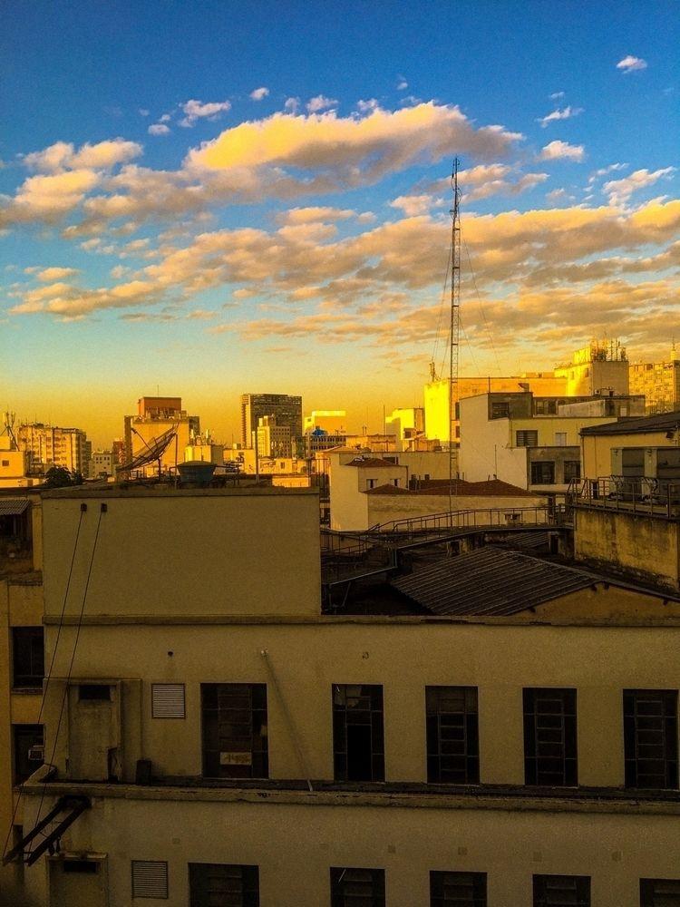 sunset, buildings, clouds, sky - noiteazulada | ello